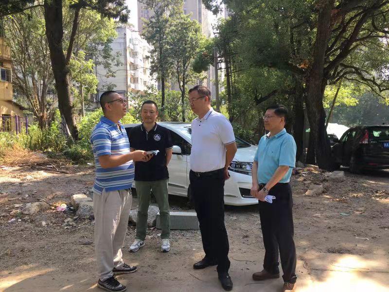 中心党组书记、主任金晖辉带领工作人员深入收储地块调研