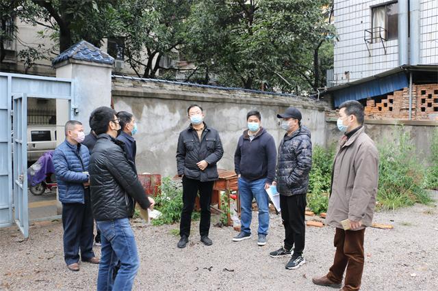 市土地发展中心领导赴现场检查在管储备地块及房源物业疫情防控情况