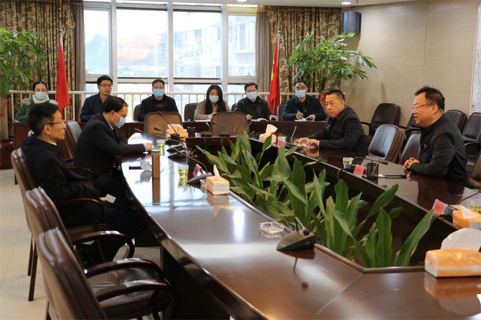 市委常委、副市长杨新坚同志莅临福州市土地发展中心调研指导